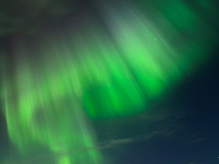 Night clouds in the sky and the Aurora.