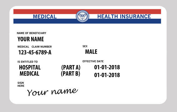 Generic medicare card. Very generic. Medicare name is not used on the card.