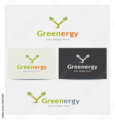 Logo Icone Lettre Y Feuillage Ecologie Energie Renouvelable Carte De Visite Et Charte Graphique Entreprise Plusieurs