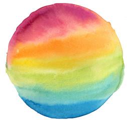 Rainbow planet watercolor illustration