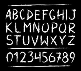 Hand drawn horror, scary letters
