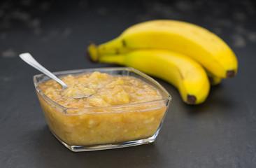 Mashed Bananas (on a vintage slate slab)