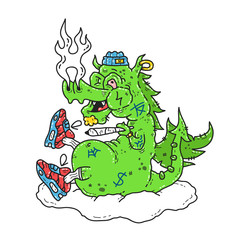 Funny stoned dope dragon smoke