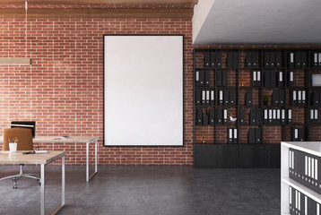 Brick open space office, poster