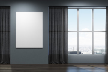 Empty black room, poster