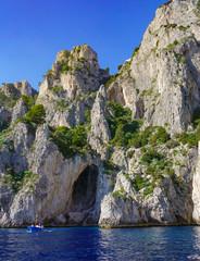 The White Grotto of the island of Capri, Italy.