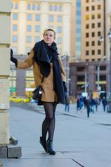 girl in heels in the city