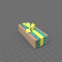 Birthday present with yellow ribbon