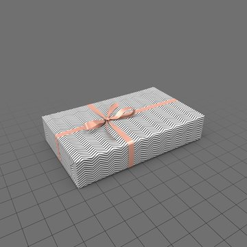 Present with black and white wrapping paper
