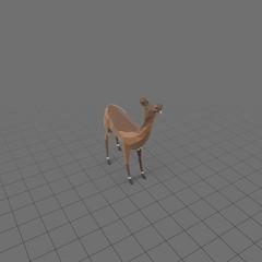 Stylized doe standing
