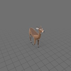 Stylized doe walking