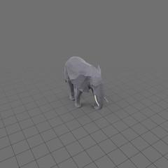 Stylized elephant walking