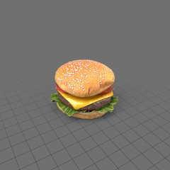 Cheeseburger with sesame seed bun