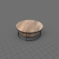 Round wood coffee table 1