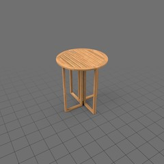 Tall wood round card table