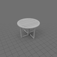 Plastic round patio table