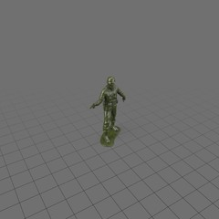 Green plastic soldier with pistol