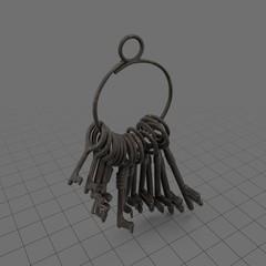 Hanging skeleton keys