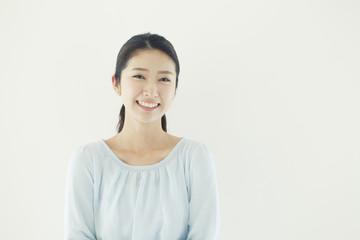 Studio portrait of young woman