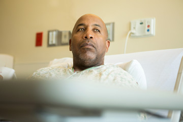 African American man in the hospital.