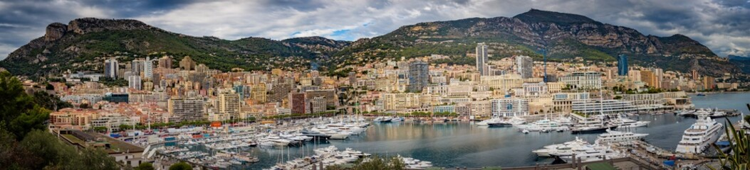 Monaco Port Panorama