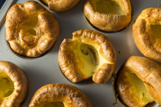 Warm Homemade British Yorkshire Puddings