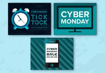 Cyber Monday  Sale Social Media Post Set 6
