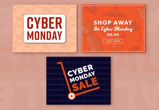 Cyber Monday Sale Social Media Post Set 7