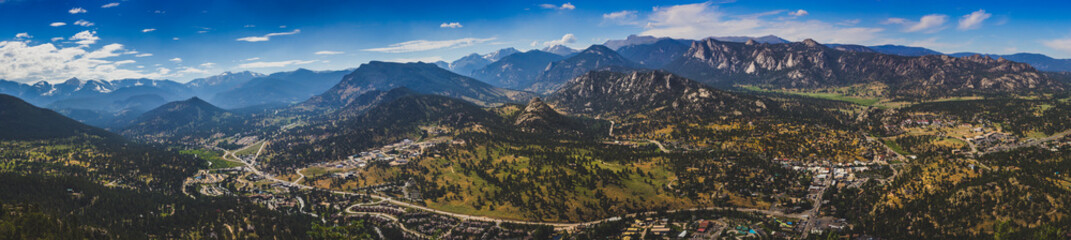Estes Park Aerial Panorama