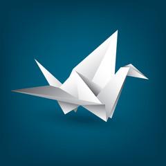 Vector paper cranes, origami
