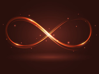 Vector illustration with the sign of infinity