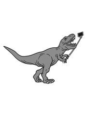 selfie stick foto bild selfy fotografieren kurze arme brüllen t-rex tyrannosaurus saurier rex fleischfresser groß monster dinosaurier dino böse gefährlich fressen jagen