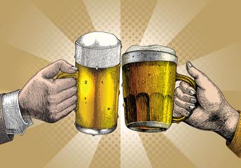 Beer drink,hand holding beer mug,Party background