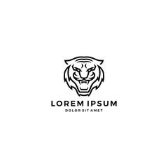 tiger head line logo