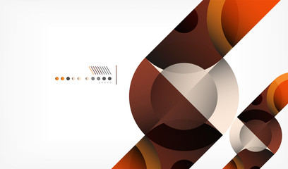 Color circle abstract geometric background, modern shapes with message