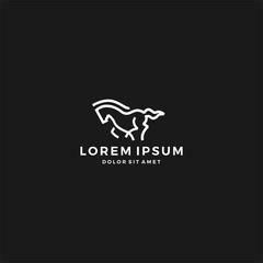 running horse logo vector