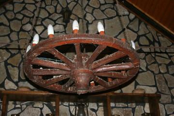 Lustre en forme de roue, Delta du Danube, Roumanie