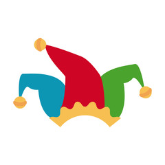 Jester hat isolated icon vector illustration graphic design