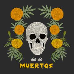"""Dia de los Muertos"" (day of the dead) card ."