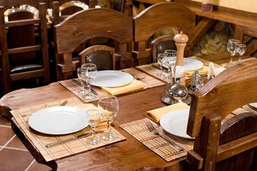 restaurant wooden interior