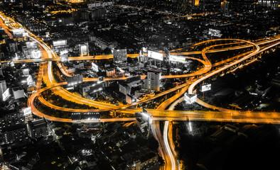 Views of Bangkok by night
