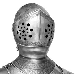 knight helmet, clipping path