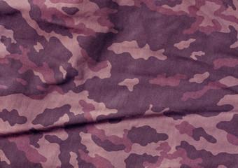 violet color camoufklage cloth pattern.
