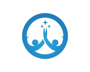 Fun People healthy life logo icon design