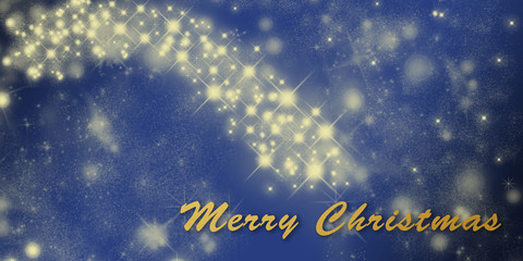 Christmas holiday greeting card template with stars