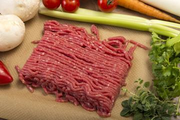 Rinderhack und Gemüse