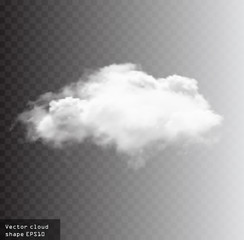 Cloud vector shape illustration