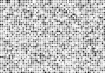 Dark Pixels texture. Pixel Abstract Mosaic Gradient Design Background. Monochromatic Abstract Background Isolated on white. Vector Illustration.