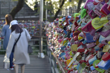 seoul tower and people