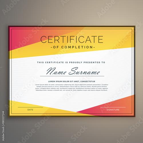 geometric certificate design template vector fotolia com の ストック